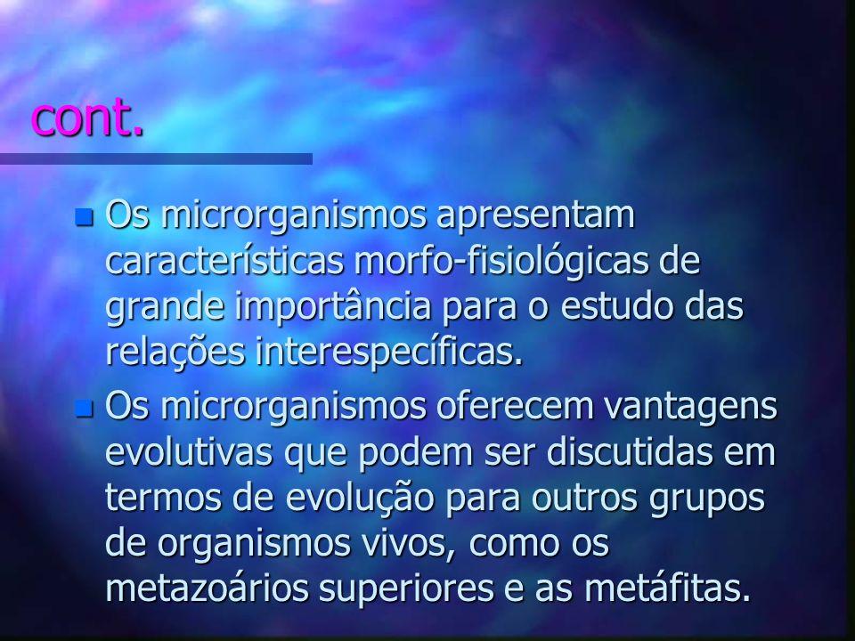 Por que MB para o TMA? n Os n Os microrganismos são importantes para as cadeias e teias alimentares, como decompositores da matéria orgânica e inorgân