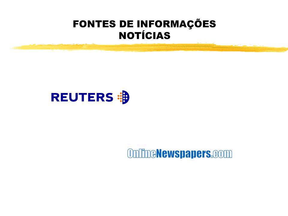 FONTES DE INFORMAÇÕES NOTÍCIAS