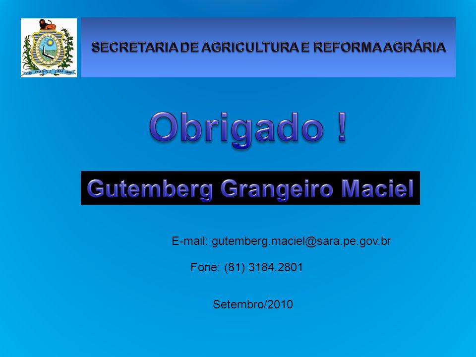 E-mail: gutemberg.maciel@sara.pe.gov.br Fone: (81) 3184.2801 Setembro/2010