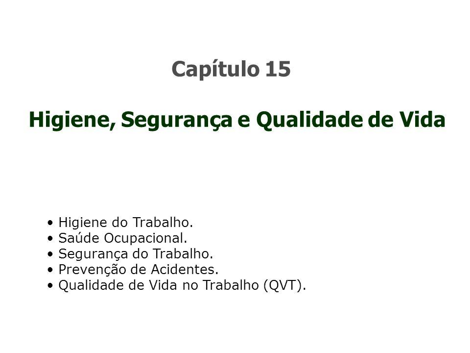 Capítulo 15 Higiene, Segurança e Qualidade de Vida Higiene do Trabalho.