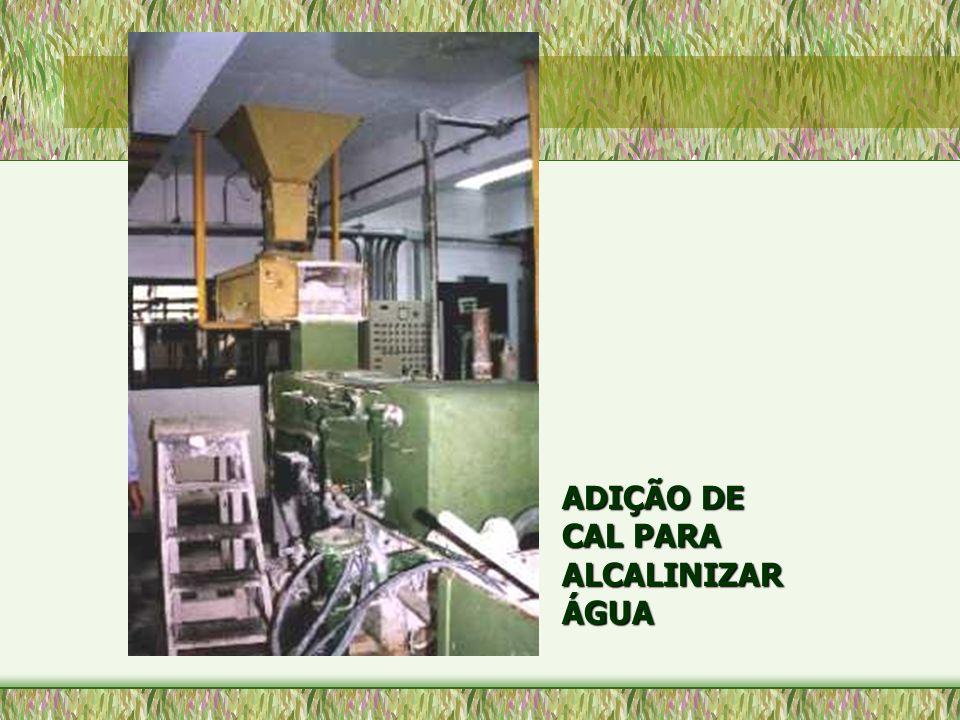 ADIÇÃO DE CAL PARA ALCALINIZAR ÁGUA