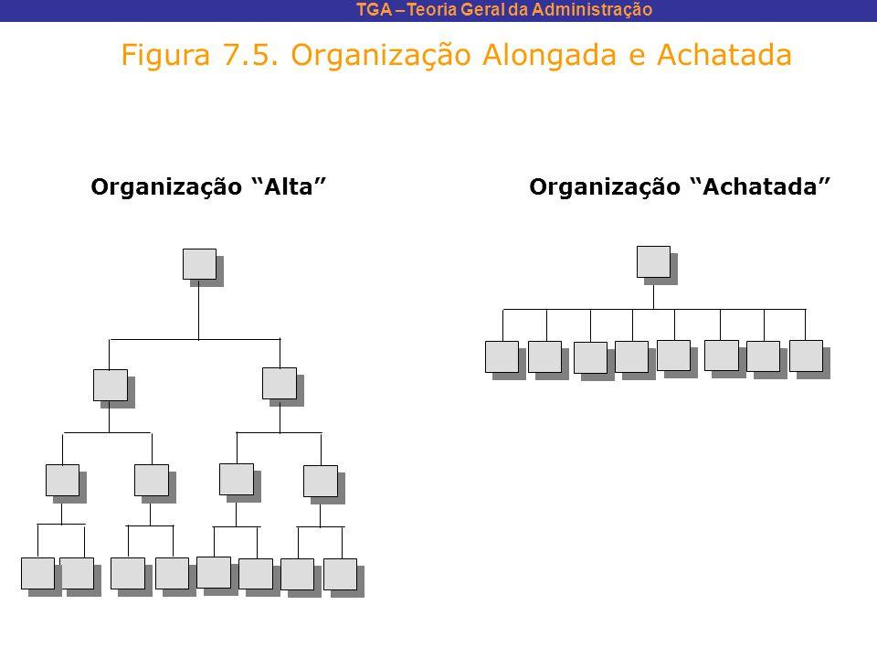 TGA –Teoria Geral da Administração Figura 7.5. Organização Alongada e Achatada Organização AltaOrganização Achatada