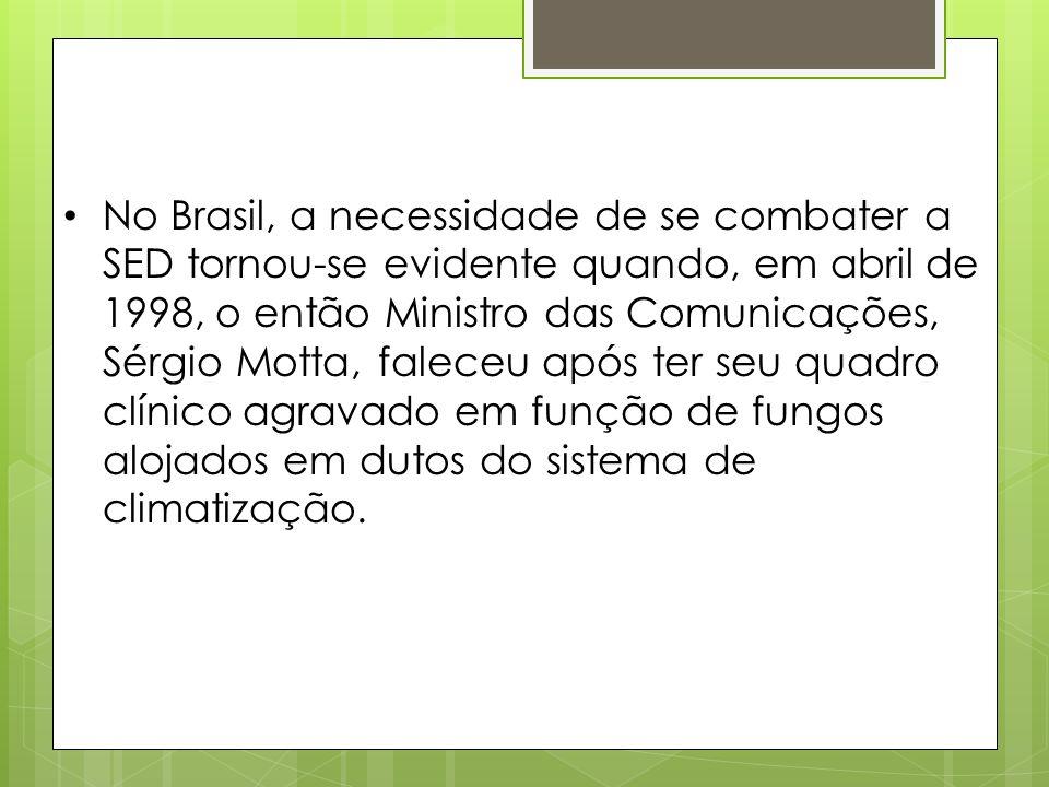 No Brasil, a necessidade de se combater a SED tornou-se evidente quando, em abril de 1998, o então Ministro das Comunicações, Sérgio Motta, faleceu ap