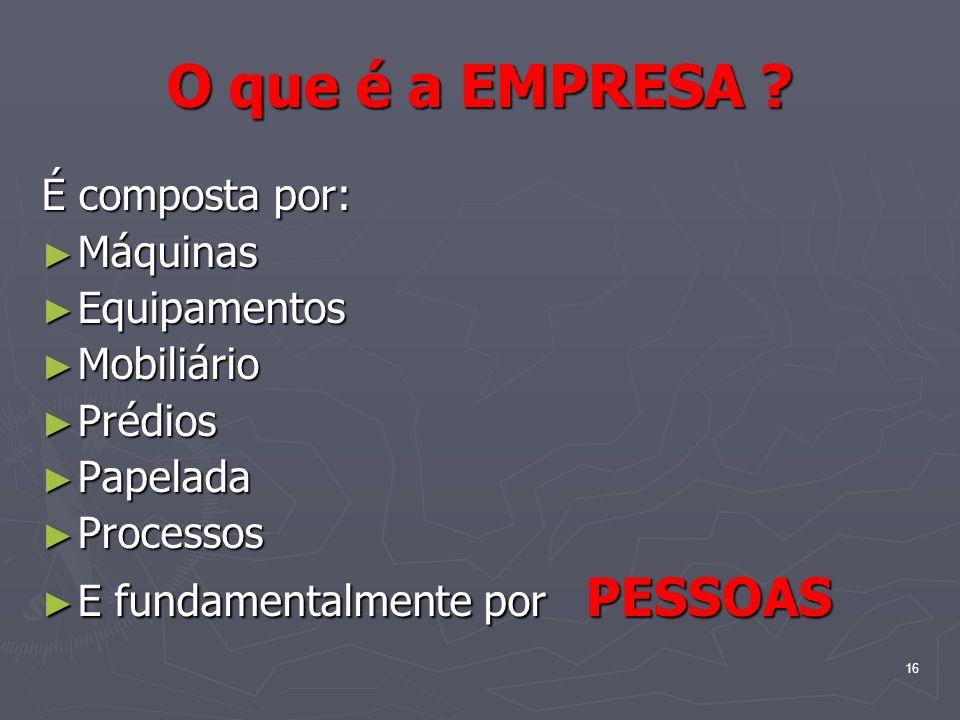 16 O que é a EMPRESA .