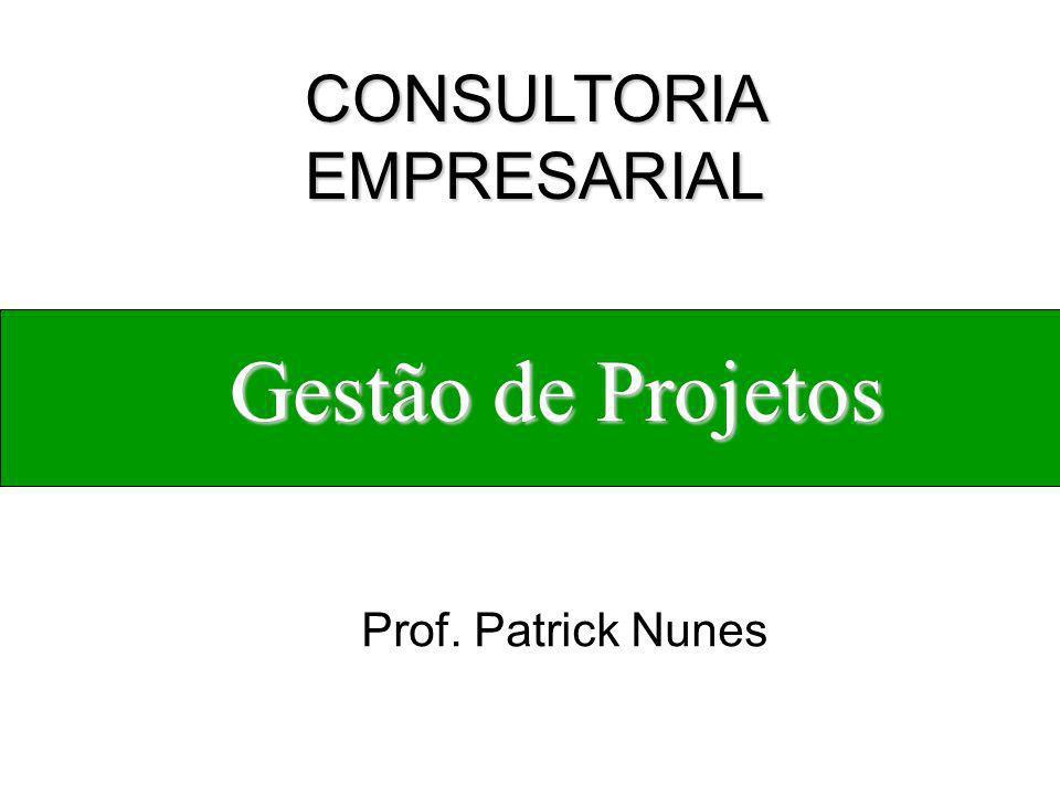 Gestão de Projetos Prof. Patrick Nunes CONSULTORIA EMPRESARIAL