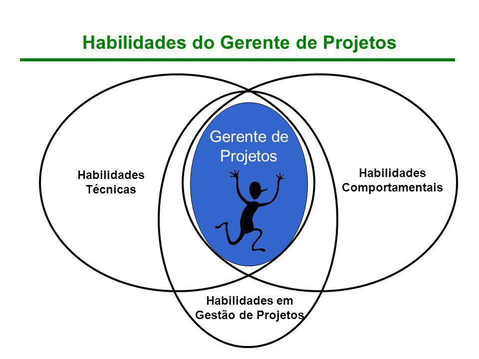 Habilidades do Gerente de Projetos Habilidades Comportamentais Habilidades Técnicas Gerente de Projetos Habilidades em Gestão de Projetos