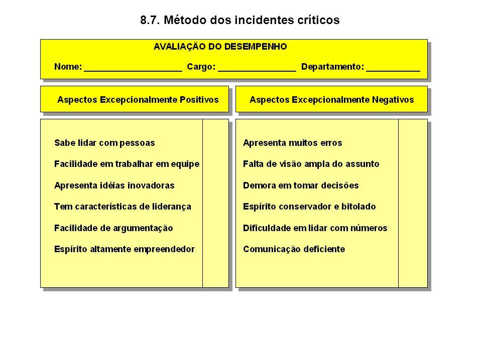 8.7. Método dos incidentes críticos