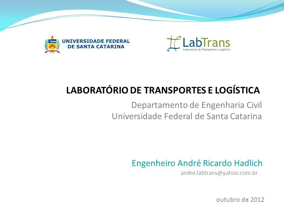 LABORATÓRIO DE TRANSPORTES E LOGÍSTICA Departamento de Engenharia Civil Universidade Federal de Santa Catarina Engenheiro André Ricardo Hadlich andre.
