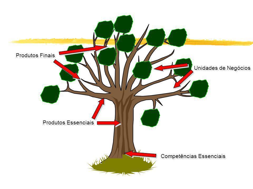 Competências Essenciais Produtos Essenciais Unidades de Negócios Produtos Finais