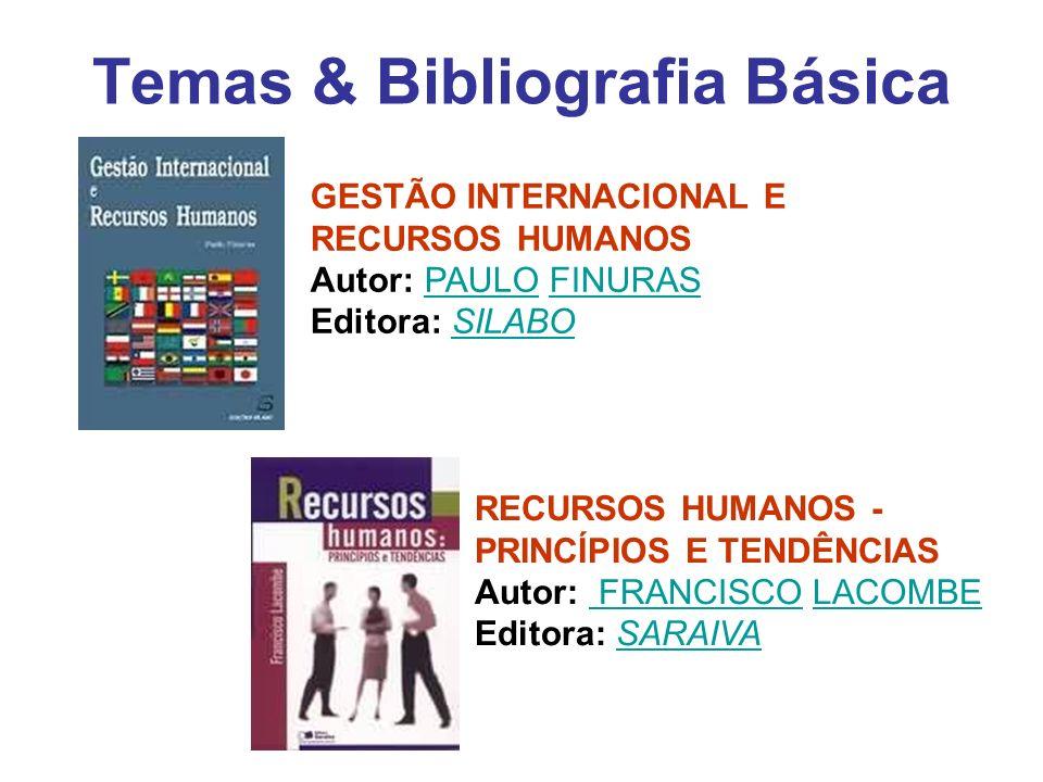 Temas & Bibliografia Básica GESTÃO INTERNACIONAL E RECURSOS HUMANOS Autor: PAULO FINURAS Editora: SILABOPAULOFINURASSILABO RECURSOS HUMANOS - PRINCÍPI