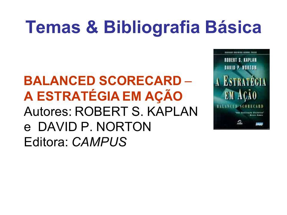 Temas & Bibliografia Básica BALANCED SCORECARD – A ESTRATÉGIA EM AÇÃO Autores: ROBERT S. KAPLAN e DAVID P. NORTON Editora: CAMPUS