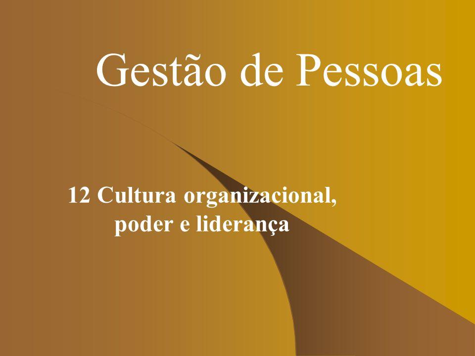 Gestão de Pessoas 12 Cultura organizacional, poder e liderança