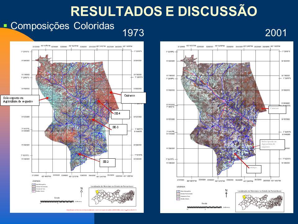 1973 2001 Composições Coloridas RESULTADOS E DISCUSSÃO