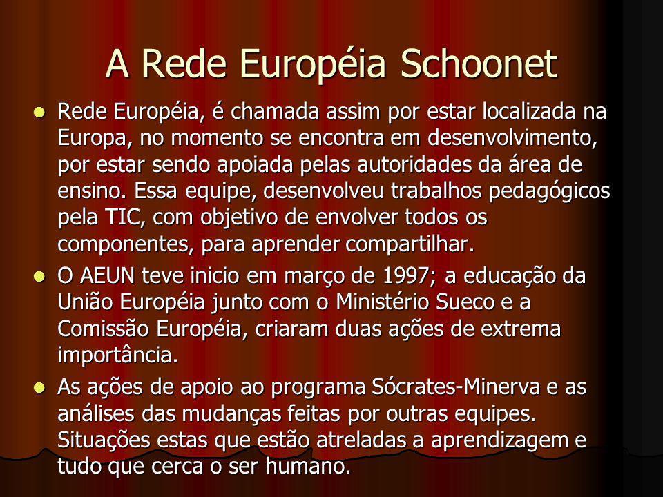 A Rede Européia Schoonet Rede Européia, é chamada assim por estar localizada na Europa, no momento se encontra em desenvolvimento, por estar sendo apo
