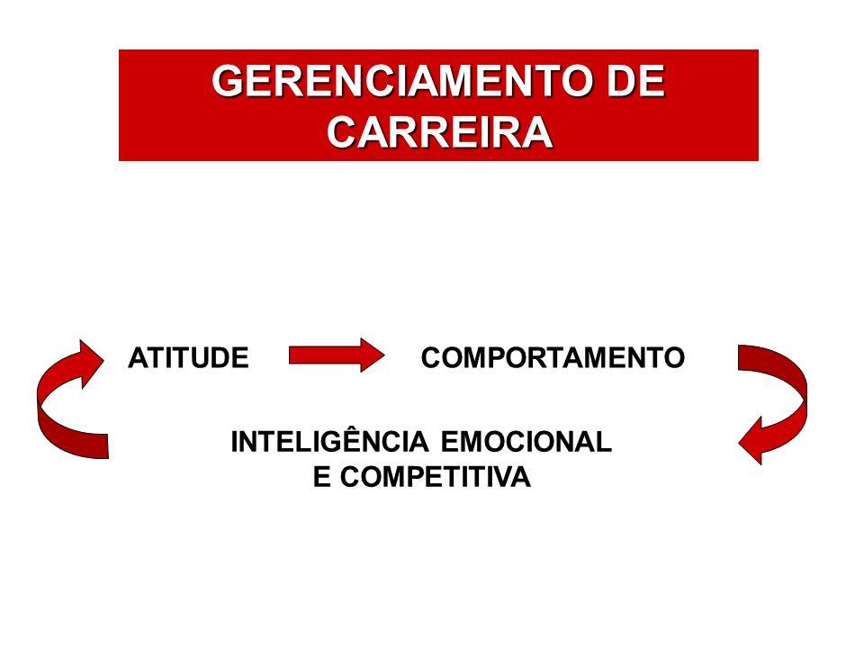 ÁREAS DE ATUAÇÃO GERENCIAMENTO DE CARREIRA ATITUDECOMPORTAMENTO INTELIGÊNCIA EMOCIONAL E COMPETITIVA