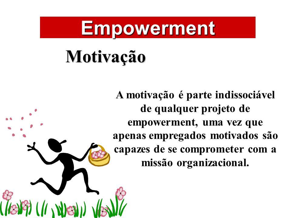 ÁREAS DE ATUAÇÃO Empowerment Motivação A motivação é parte indissociável de qualquer projeto de empowerment, uma vez que apenas empregados motivados s