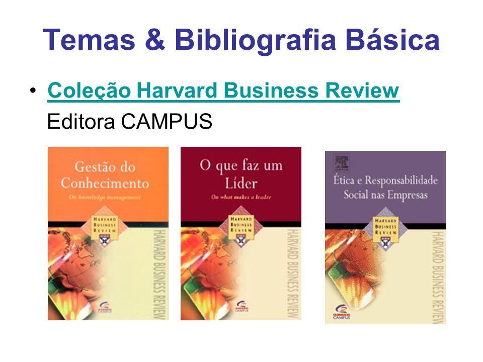 Temas & Bibliografia Básica Coleção Harvard Business Review Editora CAMPUS