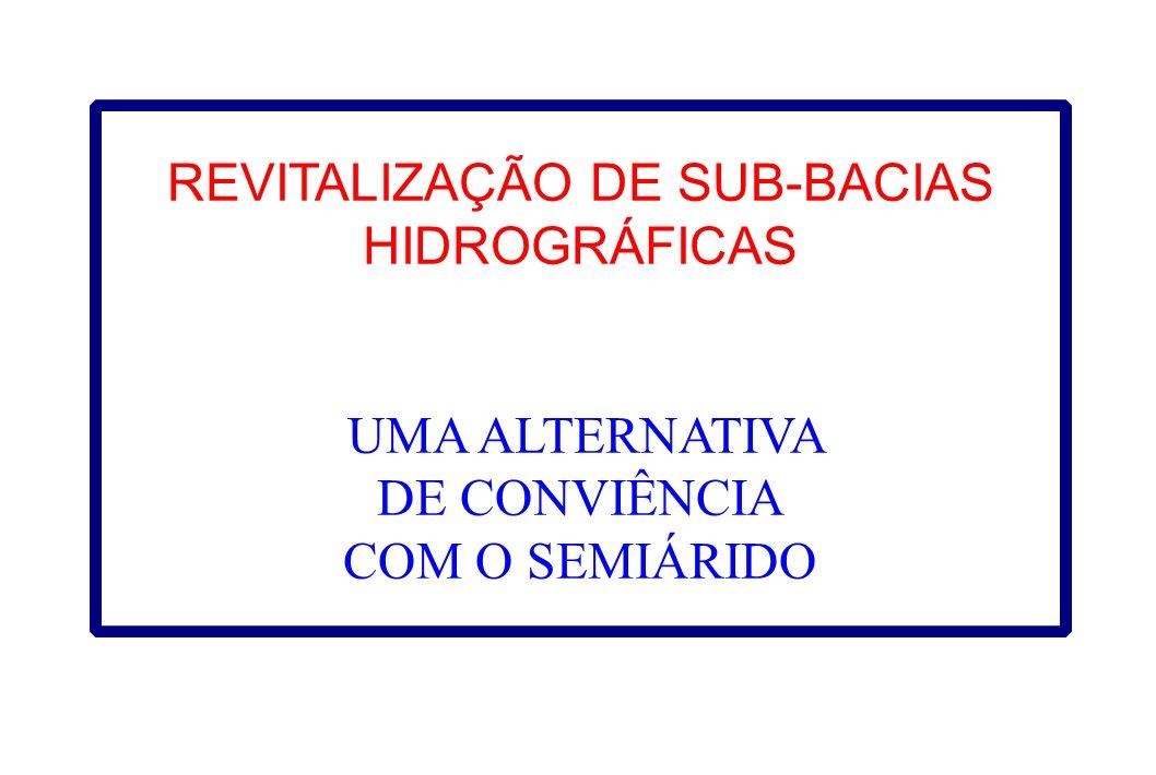 REVITALIZAÇÃO DE SUB-BACIAS HIDROGRÁFICAS UMA ALTERNATIVA DE CONVIÊNCIA COM O SEMIÁRIDO