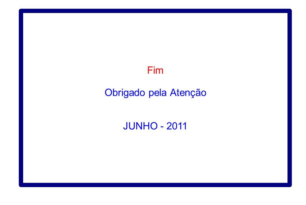 Fim Obrigado pela Atenção JUNHO - 2011