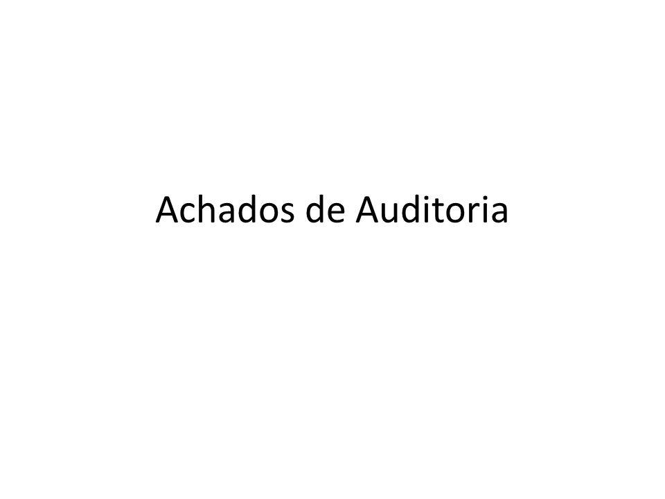 Achados de Auditoria