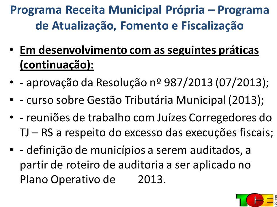 Diagnóstico Formulado a Partir de Questionários Respondidos Municípios (485) Responderam entre Dezembro/ 2012 e Janeiro / 2013