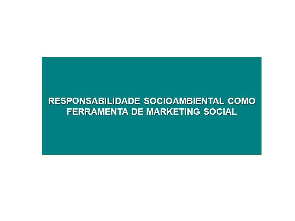 RESPONSABILIDADE SOCIOAMBIENTAL COMO FERRAMENTA DE MARKETING SOCIAL
