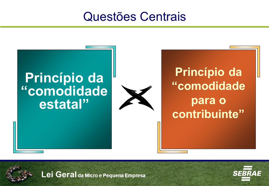 Lei Geral da Micro e Pequena Empresa Princípio da comodidade estatal Princípio da comodidade para o contribuinte Questões Centrais