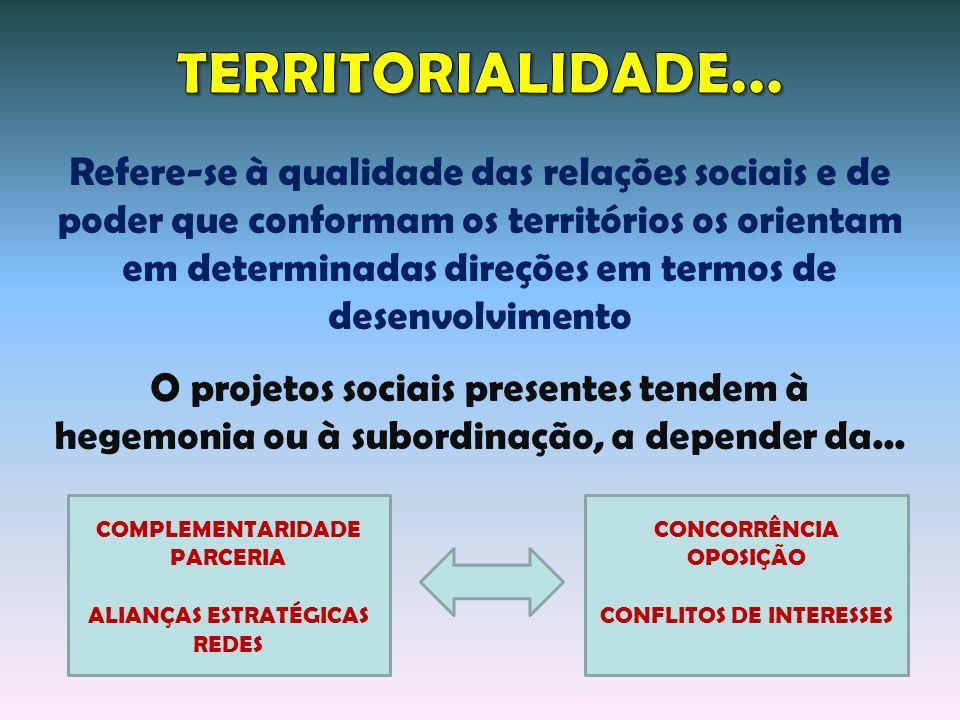 COMPLEMENTARIDADE PARCERIA ALIANÇAS ESTRATÉGICAS REDES CONCORRÊNCIA OPOSIÇÃO CONFLITOS DE INTERESSES