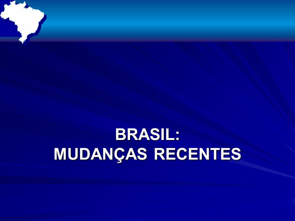 BRASIL: MUDANÇAS RECENTES