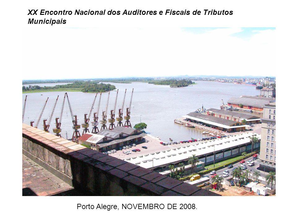 XX Encontro Nacional dos Auditores e Fiscais de Tributos Municipais Porto Alegre, NOVEMBRO DE 2008.