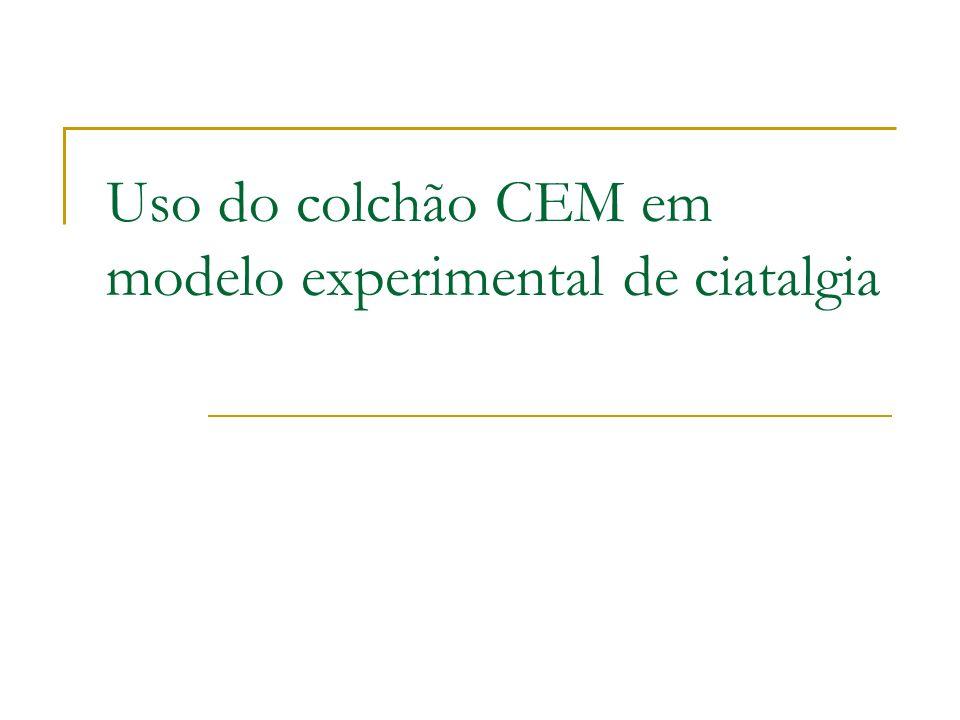 Uso do colchão CEM em modelo experimental de ciatalgia