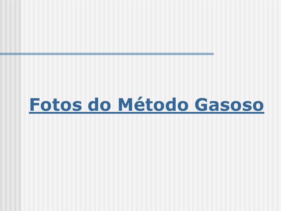 Fotos do Método Gasoso
