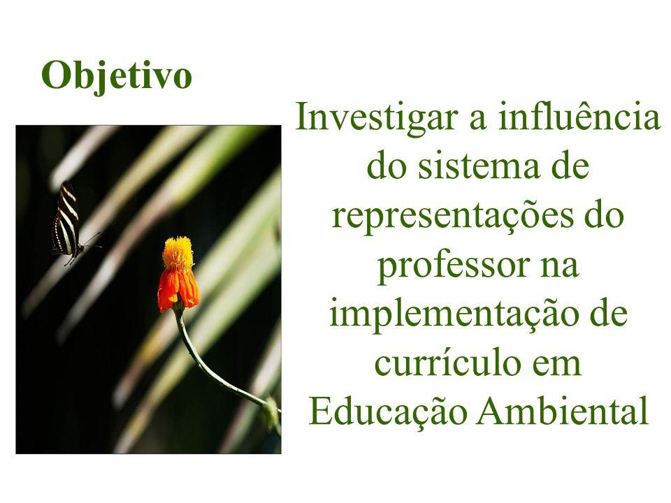 Investigar a influência do sistema de representações do professor na implementação de currículo em Educação Ambiental Objetivo