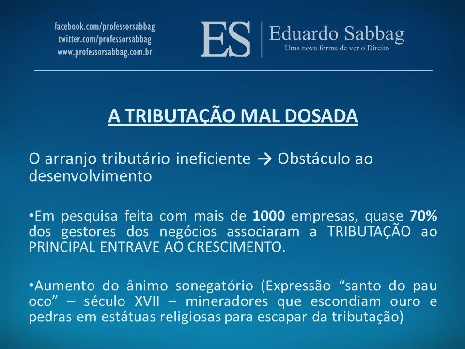 A PESADA TRIBUTAÇÃO BRASILEIRA CARGA TRIBUTÁRIA E SUA TRAJETÓRIA ASCENDENTE Conceito de Carga Tributária.