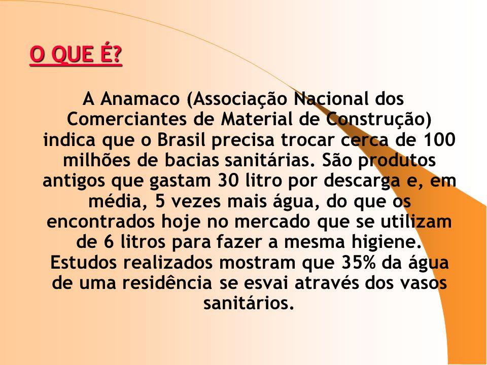 O QUE É? O QUE É? A Anamaco (Associação Nacional dos Comerciantes de Material de Construção) indica que o Brasil precisa trocar cerca de 100 milhões d