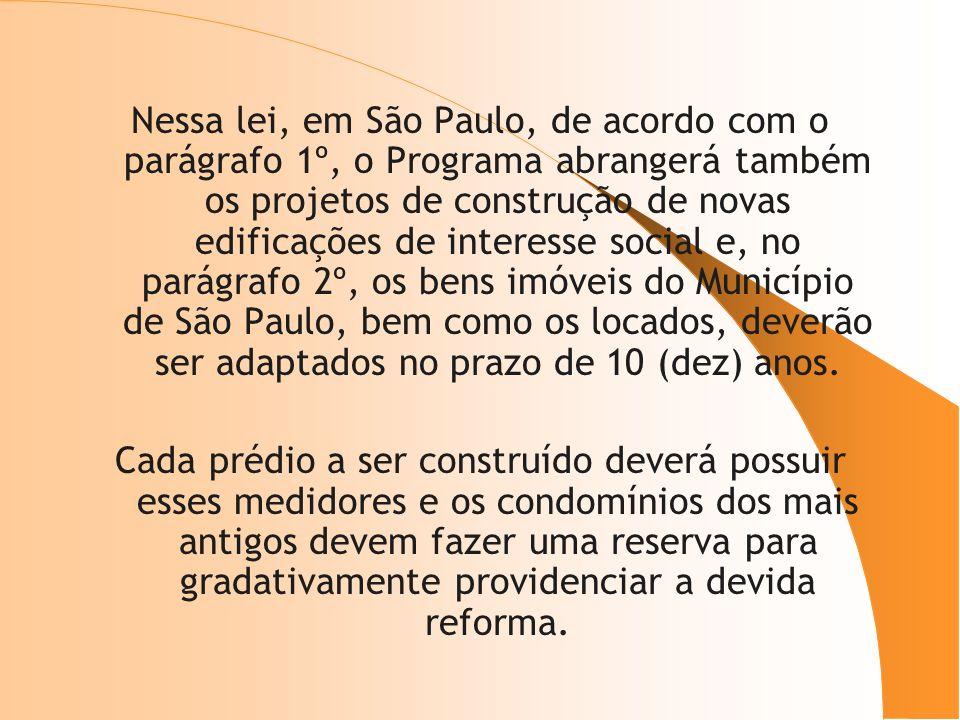 Nessa lei, em São Paulo, de acordo com o parágrafo 1º, o Programa abrangerá também os projetos de construção de novas edificações de interesse social
