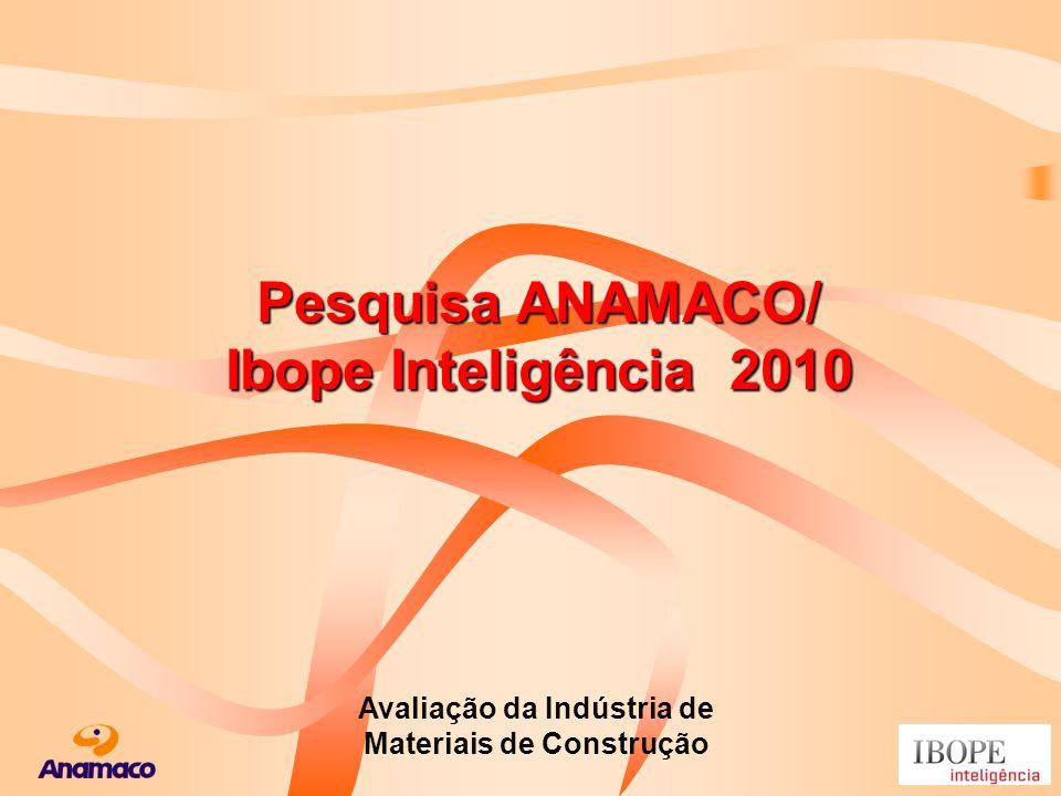 Pesquisa ANAMACO/ Ibope Inteligência 2010 Avaliação da Indústria de Materiais de Construção