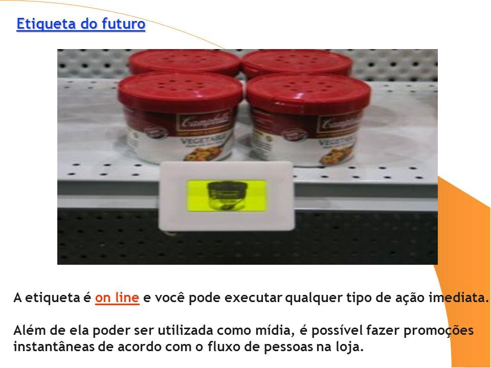 Etiqueta do futuro Etiqueta do futuro A etiqueta é on line e você pode executar qualquer tipo de ação imediata. Além de ela poder ser utilizada como m