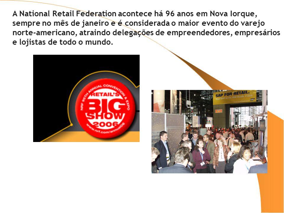 A National Retail Federation acontece há 96 anos em Nova Iorque, sempre no mês de janeiro e é considerada o maior evento do varejo norte-americano, at