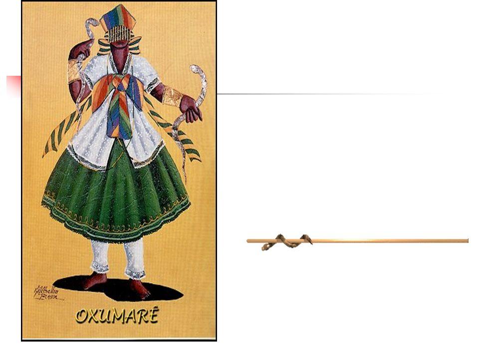 SAUDAÇÃO: Arroboboi CORES: preto e amarelo DIA DA SEMANA: terça-feira SÍMBOLOS: cobra ELEMENTO: arco-íris ANIMAL SAGRADO:cobra, tartaruga