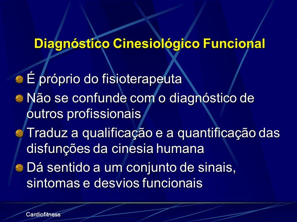 Cardiofitness O Processo Fisioterapêutico na Atualidade (Clínico) Guide to Physical Therapy Practice. Phys Ther. 1997;77:1163-1650 1. Admissão / Consu