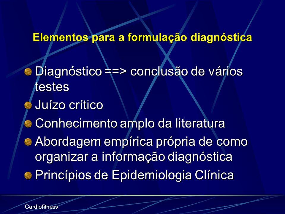 Cardiofitness Diagnóstico Cinesiológico Funcional Termo que designa as disfunções essenciais, objeto da abordagem fisioterapêutica. O fisioterapeuta i