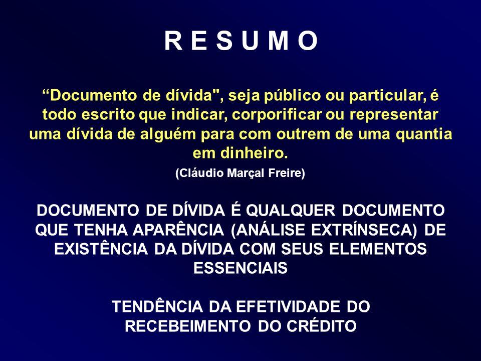 R E S U M O Documento de dívida