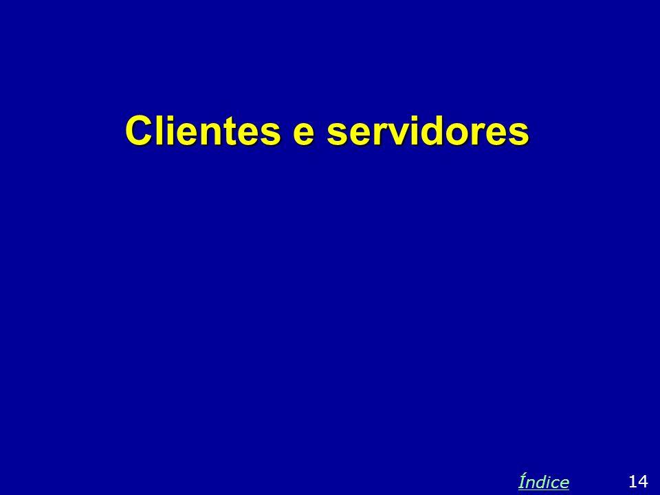 Clientes e servidores 14 Índice