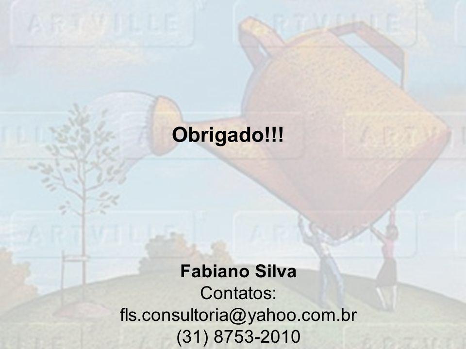 Obrigado!!! Fabiano Silva Contatos: fls.consultoria@yahoo.com.br (31) 8753-2010