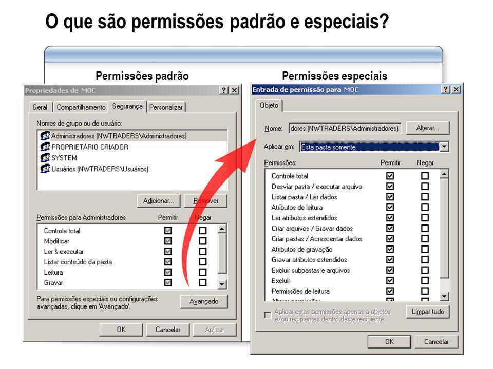 Prática: Gerenciando o acesso a arquivos e pastas usando permissões NTFS Nesta prática, você vai gerenciar o acesso a arquivos e pastas usando permissões NTFS