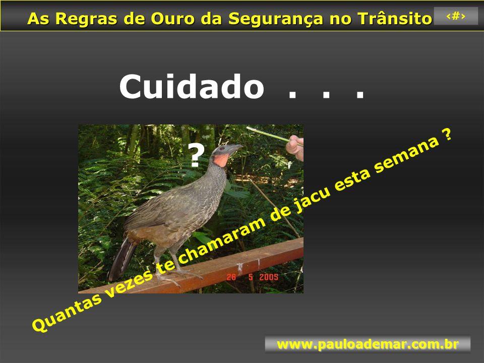 As Regras de Ouro da Segurança no Trânsito As Regras de Ouro da Segurança no Trânsito www.pauloademar.com.br 37 6 % 1.