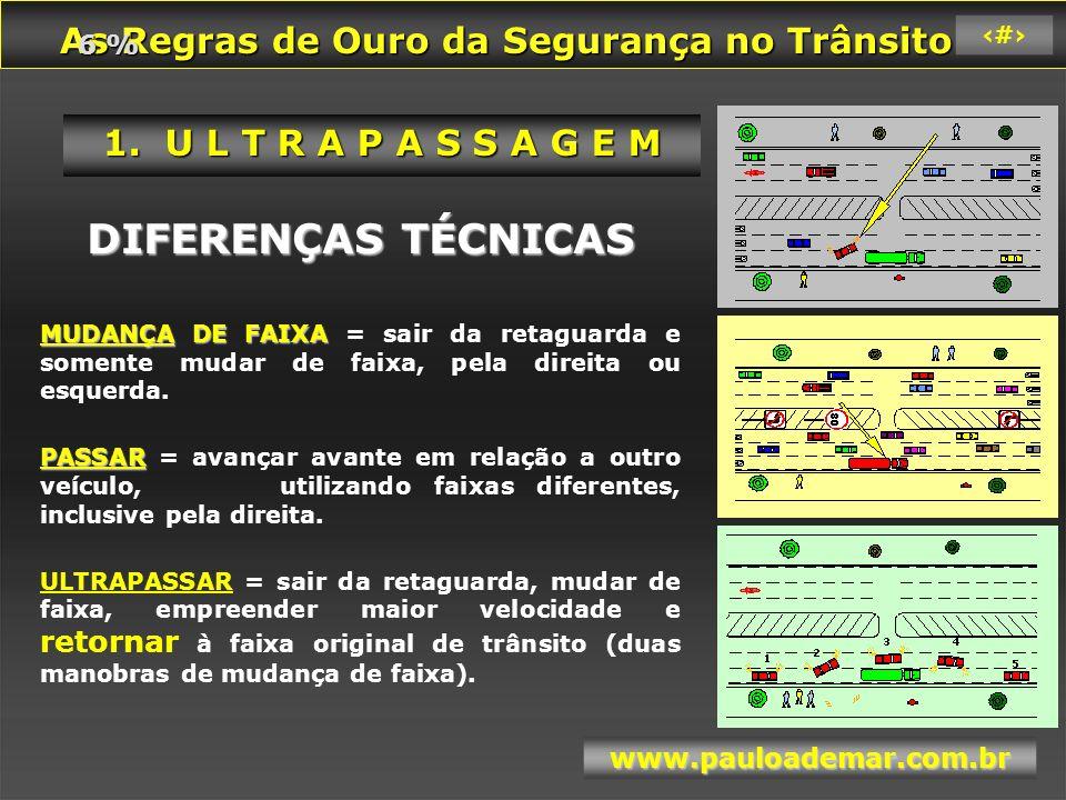 As Regras de Ouro da Segurança no Trânsito As Regras de Ouro da Segurança no Trânsito www.pauloademar.com.br 38 1.