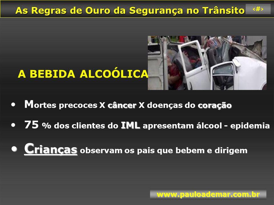 As Regras de Ouro da Segurança no Trânsito As Regras de Ouro da Segurança no Trânsito www.pauloademar.com.br 65 Filme Álcool 10 – Europa Álcool 10 – Europa