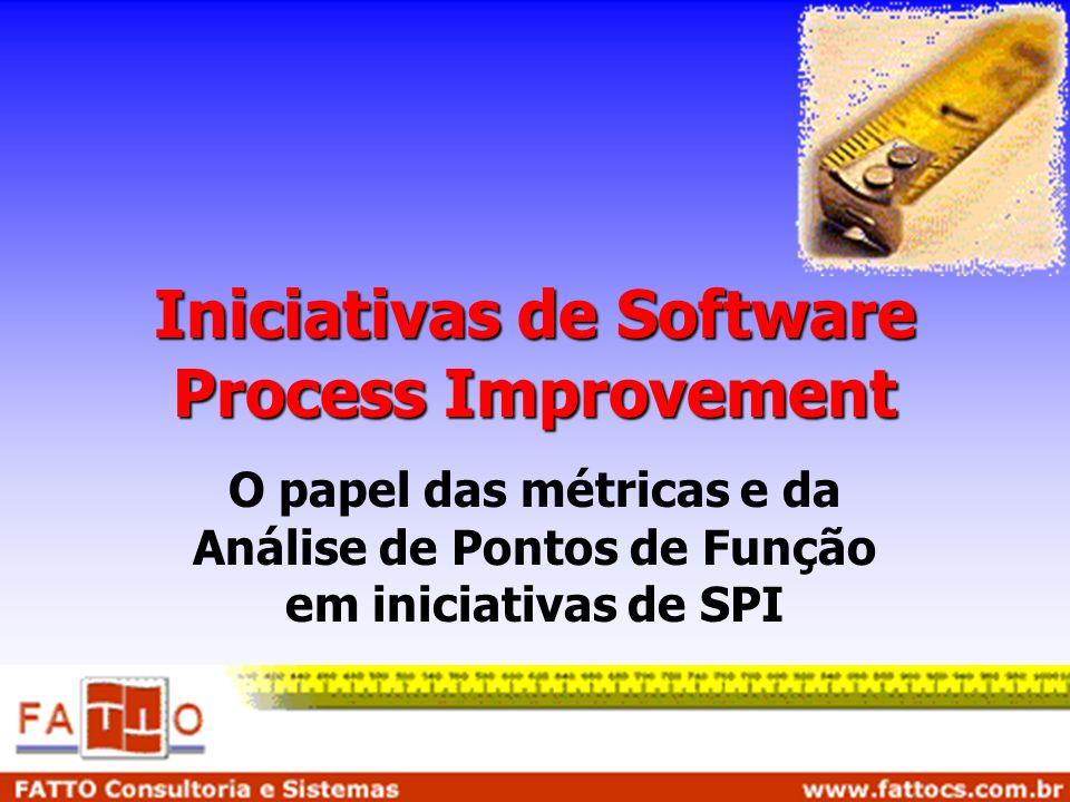 Iniciativas de Software Process Improvement O papel das métricas e da Análise de Pontos de Função em iniciativas de SPI